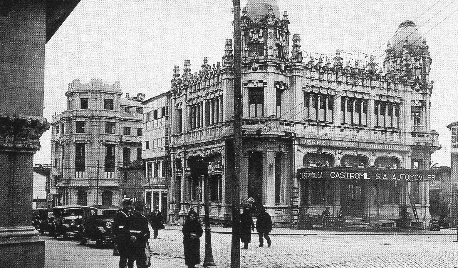 Plaza de Galicia, Santiago, around 1930