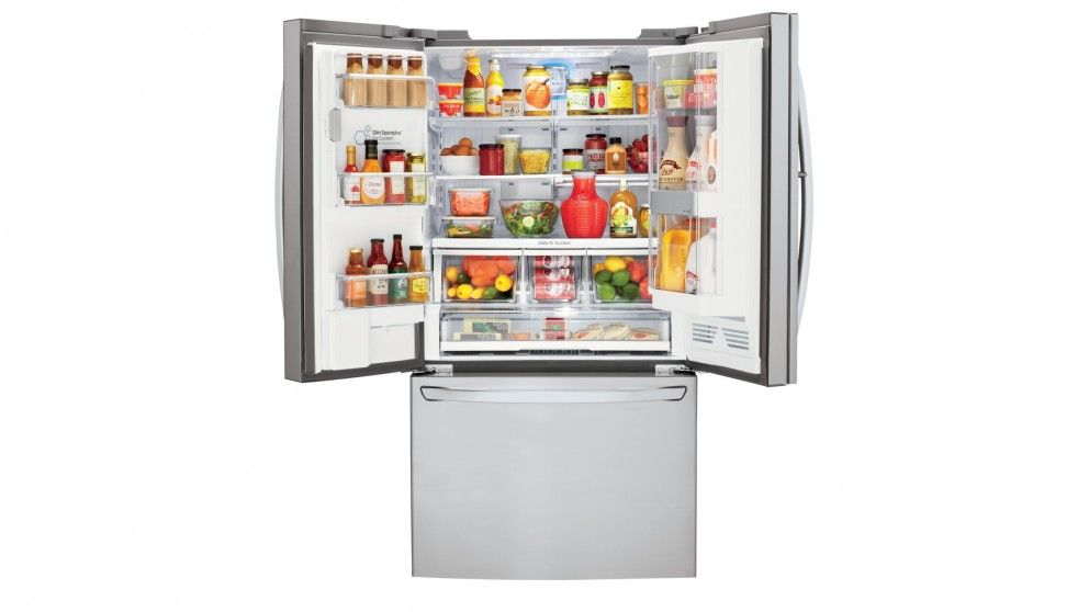 Lg 730l French Door Fridge With Slim Ice Maker Stainless Steel