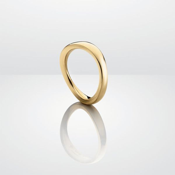 Oblique nr. 3 ring i gult guld