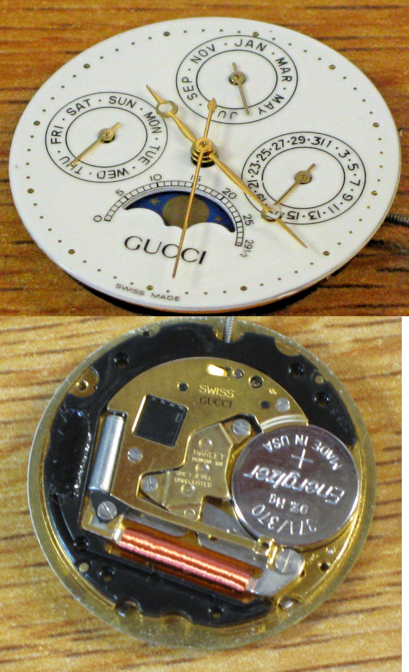 044ef13e365 Movements 57720  Swiss Gucci Harley Ronda 706.3 Quartz Watch Movement  Working -  BUY IT NOW ONLY   45 on eBay!