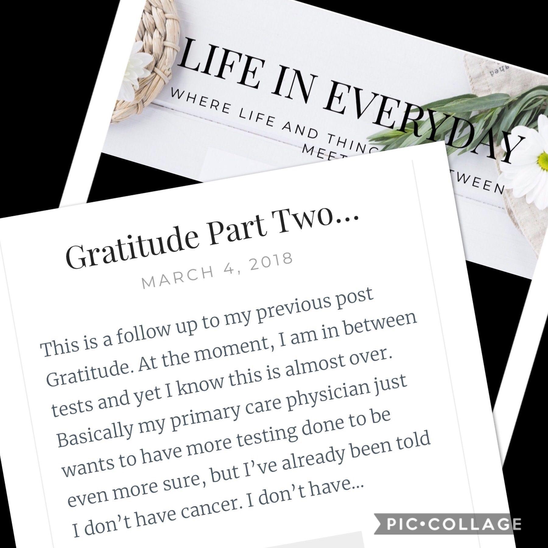 Gratitude Part Two… Gratitude, Primary care, Primary