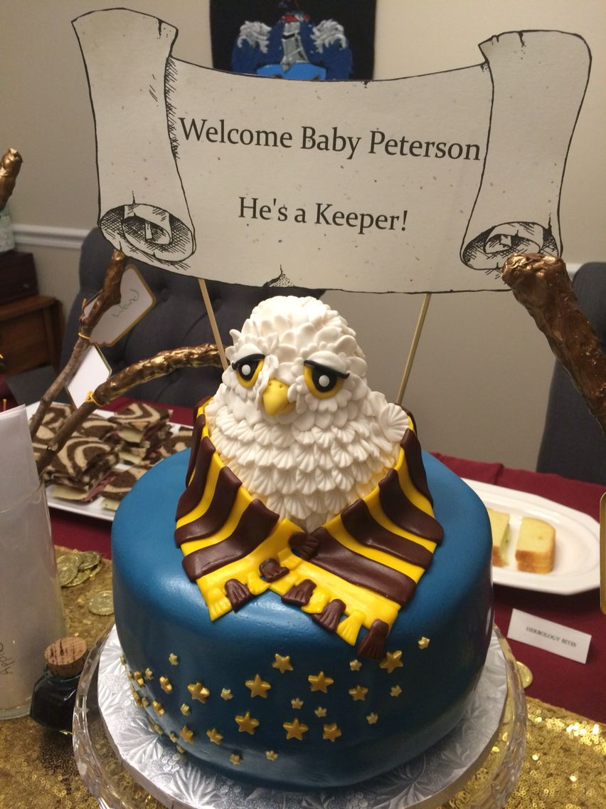 Harry Potter Baby Shower · Happy Potter Inspired Shower Cake By Whimsy Cakes:  Wuweeee@aol.com