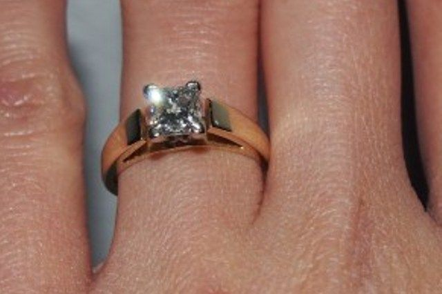 princess cut 92ct diamond engagement ring used engagement rings sell engagement rings pre - Used Wedding Rings