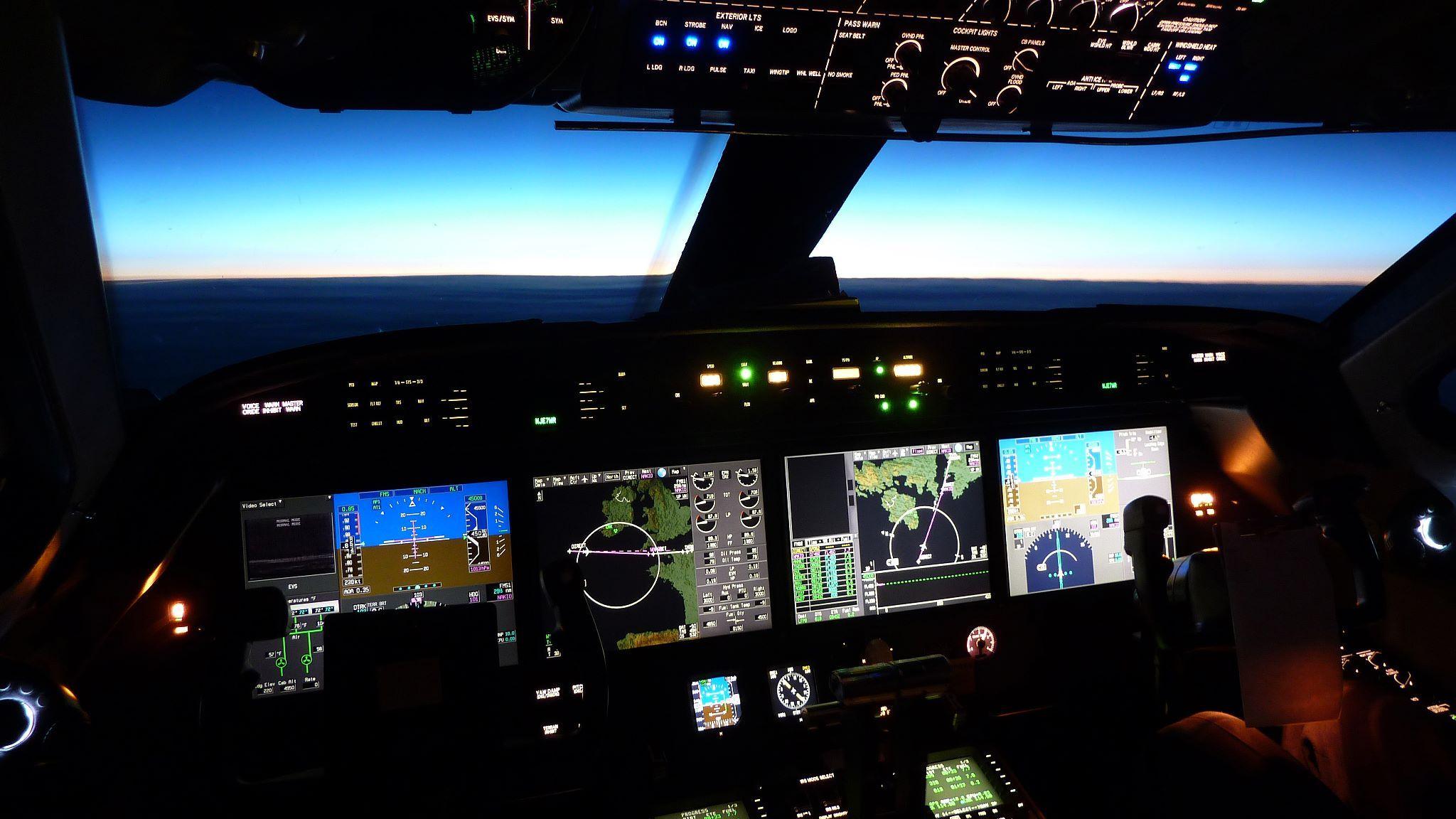 Cockpit, Plane, Jet, Private Jet FBO, Teterboro Airport