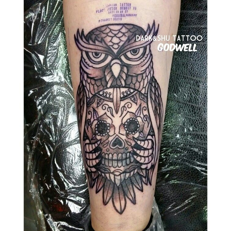#tattoo #tatouage #ink #inked #cartoon #godwell #darkshutattoo #bruxelles #brussels #belgium #belgique #oldschool #oldschooltattoo #owl #hibou #chouette #owltattoo
