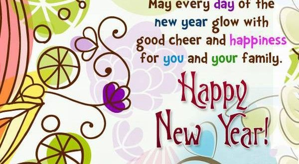 beautiful happy new year wish for family and friends
