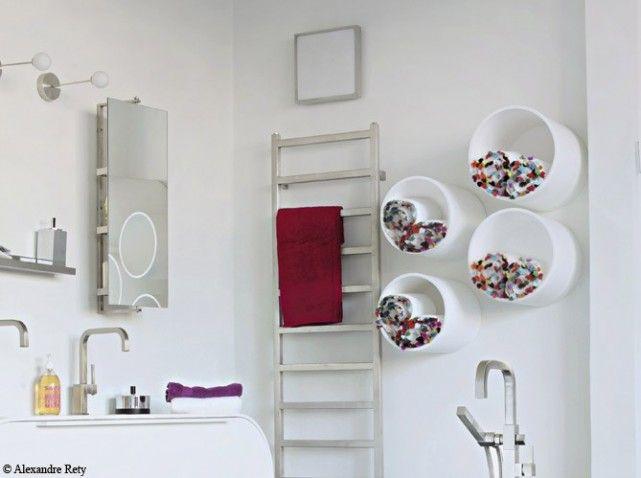 Salle de bains casiers rangement id es am nagement for Rangement salle de bain