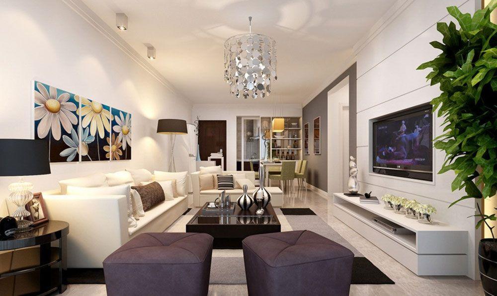 interior design for rectangular living room | rectangular living