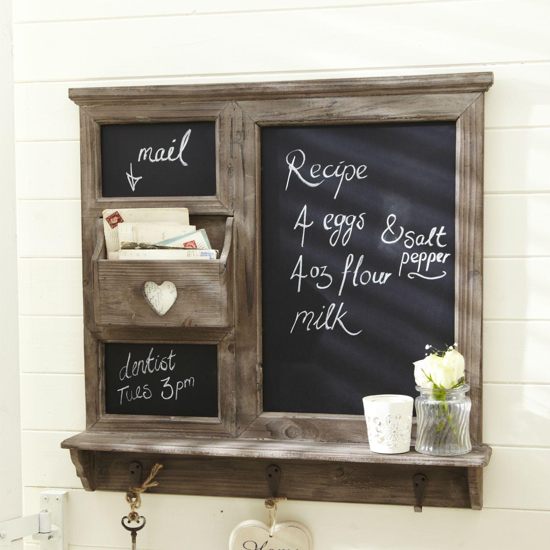 Chalk Board Organizer With Heart Cutout Kitchen Chalkboard