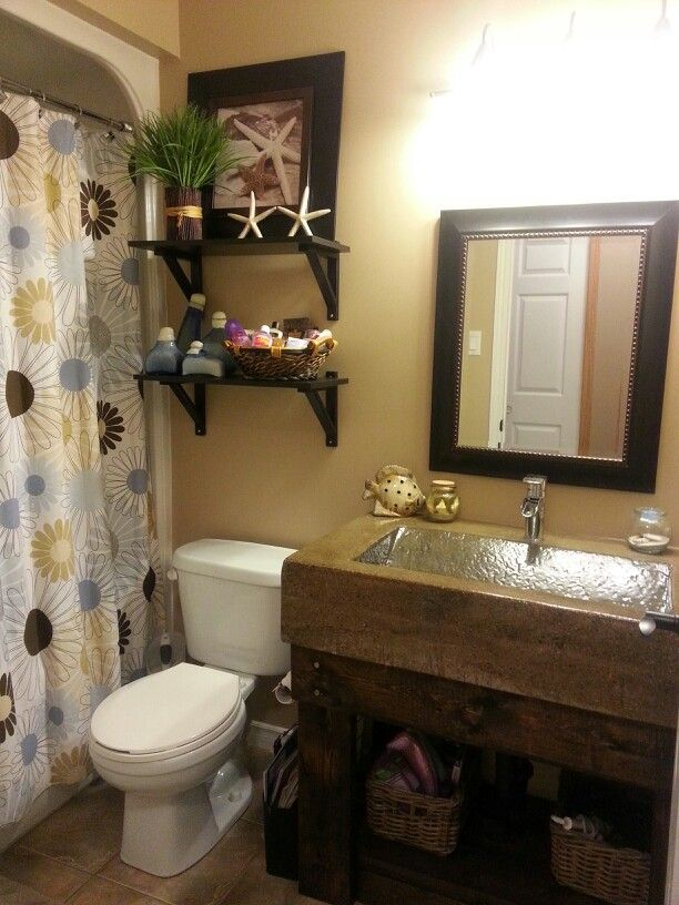 my newly renovated guest bathroom spa theme as my