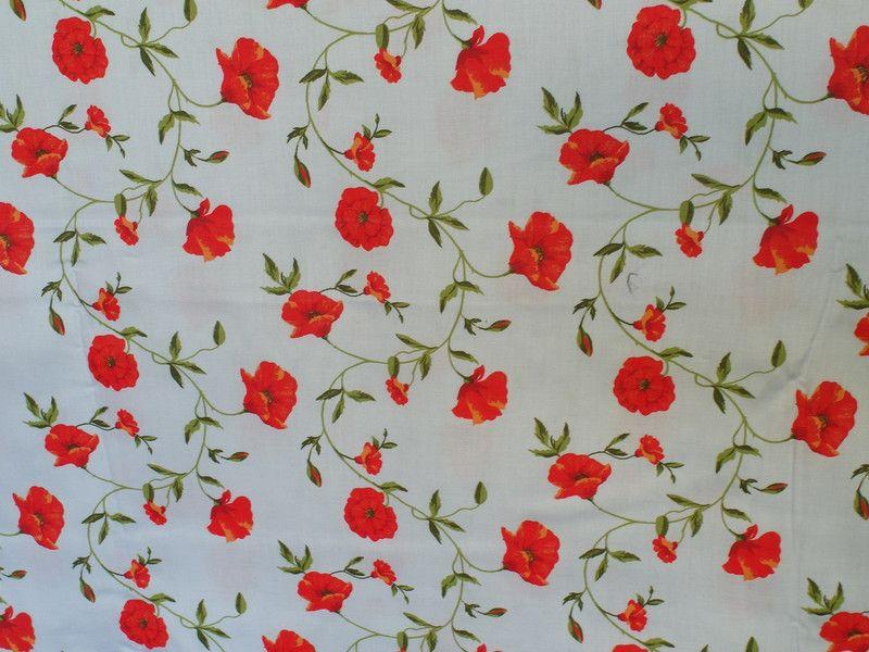 Stoff Blumen Stoff Mohnblume Ein Designerstuck Von Villinoluca Bei Dawanda Mohnblume Blumen Dawanda