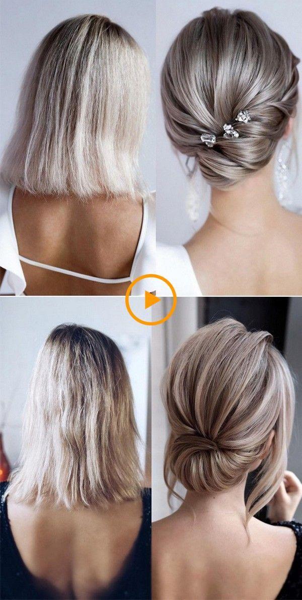 24 Recogidos cabello corto
