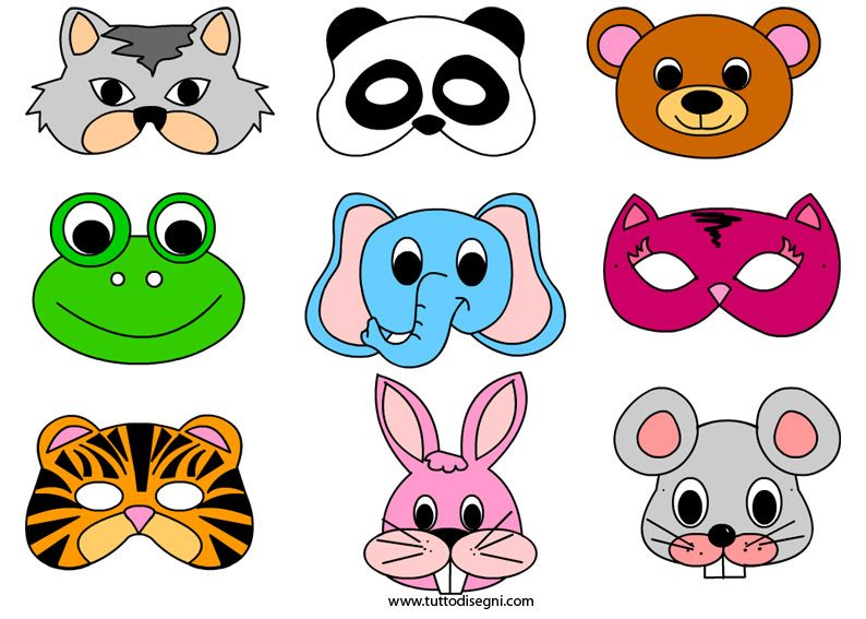 Maschere di carnevale carnevale maschere di animali da for Immagini maschere carnevale da colorare