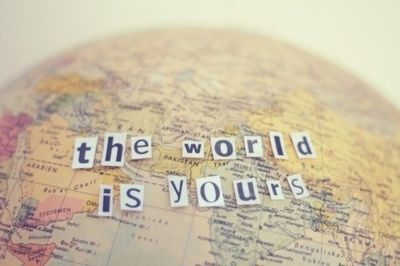 The world is yours #GetOutThere