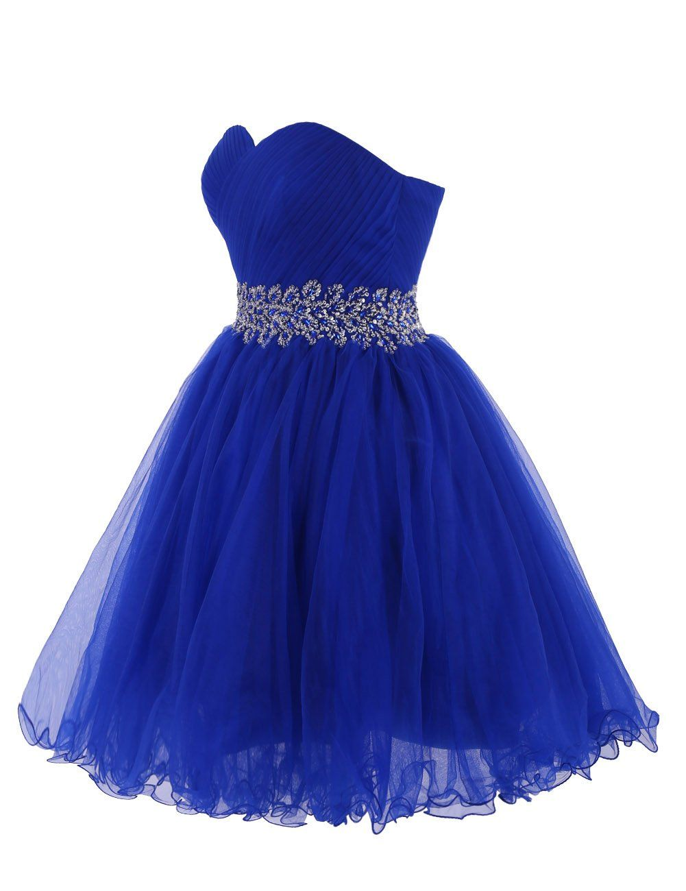 3872c4aa7be Tidetell 2015 Strapless Royal Blue Homecoming Beaded Short Prom Dresses  Ball Gowns