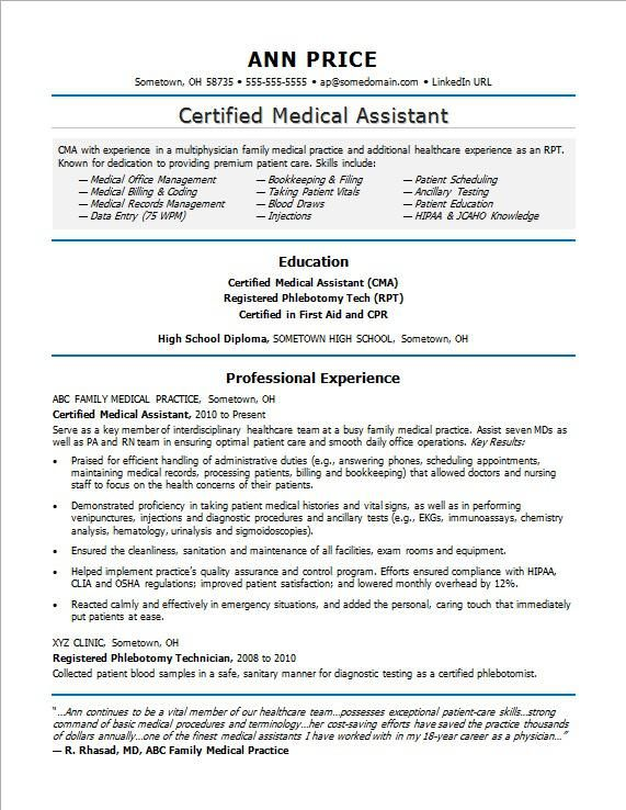 Marvelous Resume Examples Medical Assistant | Medical Assistant, Resume Examples And  Medical