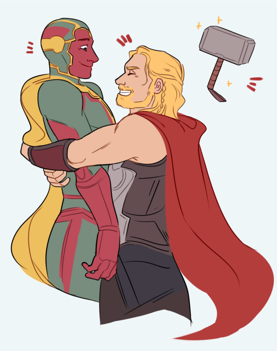 Vision and Thor