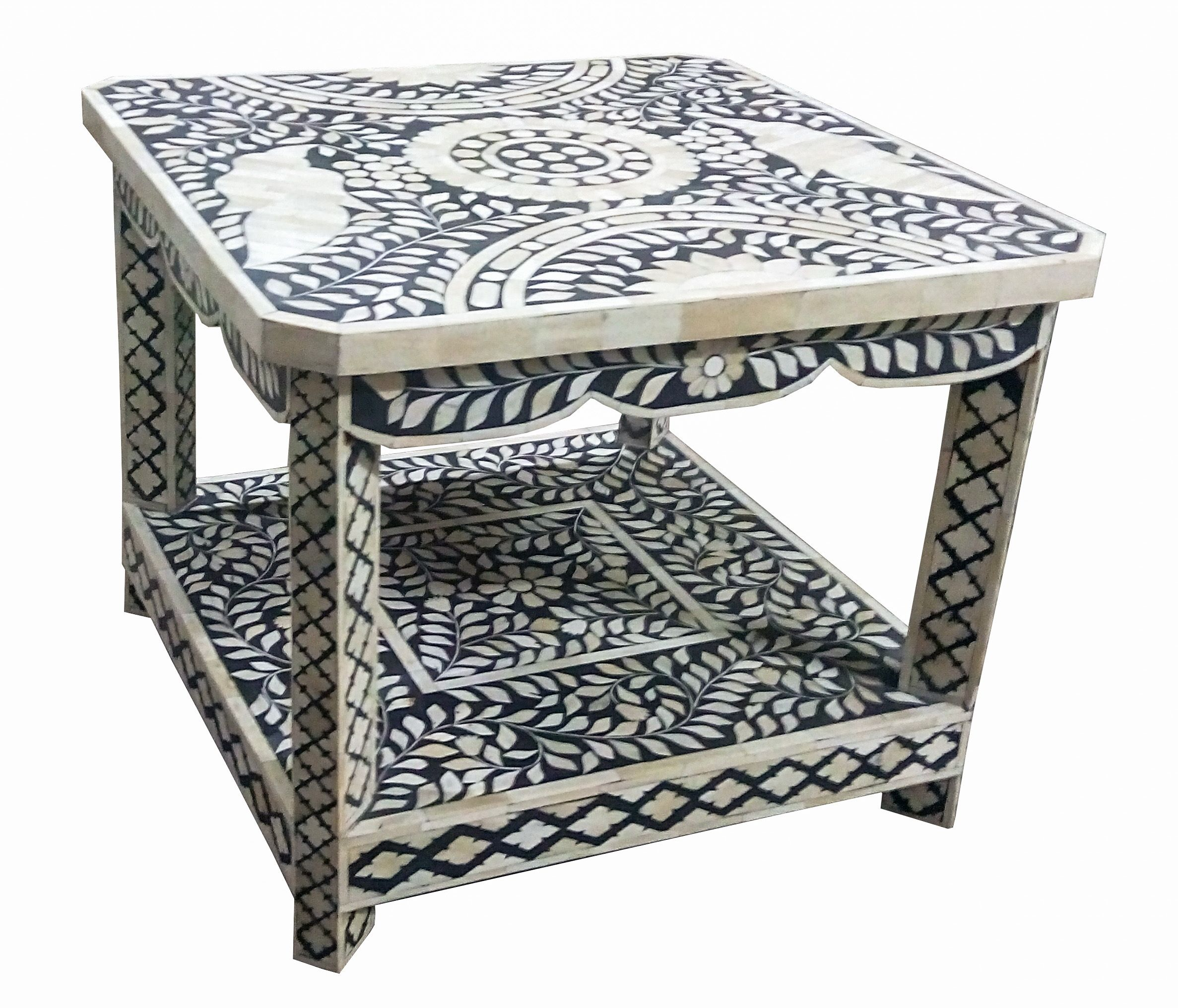 Precise Bone Inlay Center Table In Traditional Pattern Bone  # Muebles Pampanga