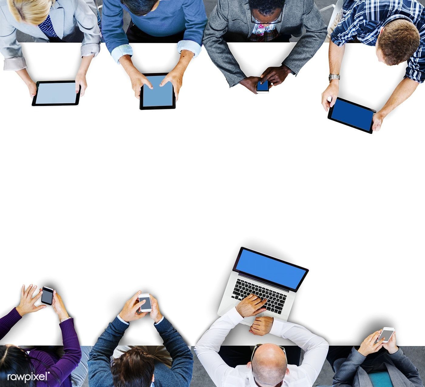 Download Premium Image Of Business People Using Digital