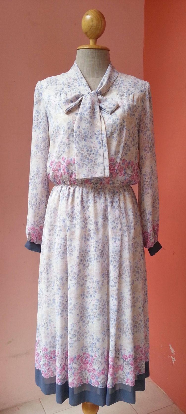 Floral dress women s summer dress vintage day dress retro dress