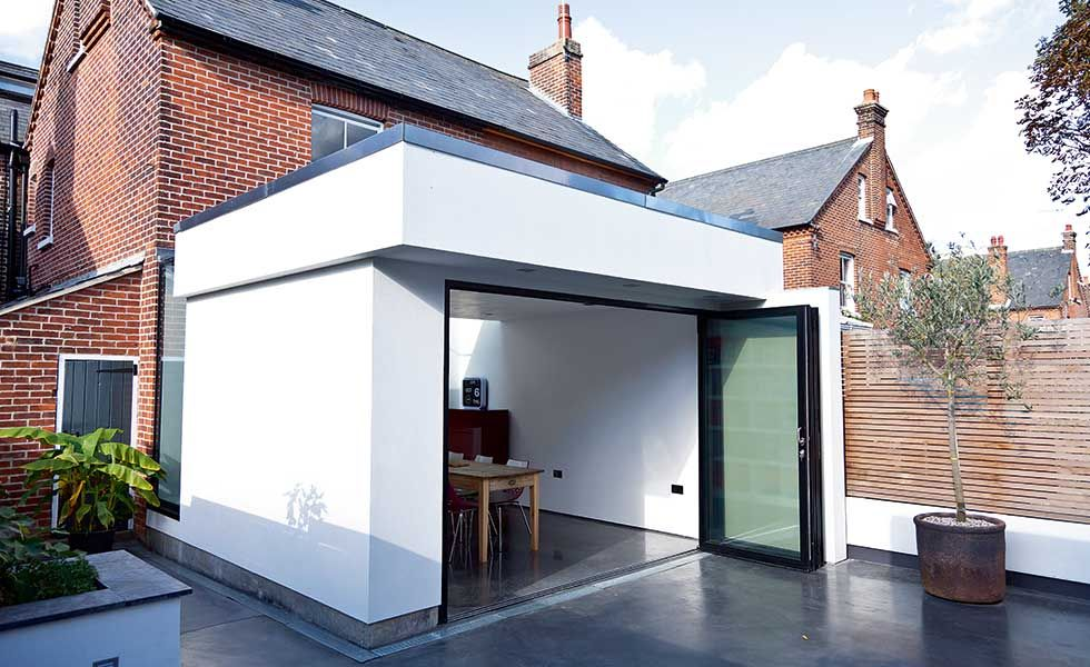 Single Storey Rendered Extension With Bi Folds Gaff