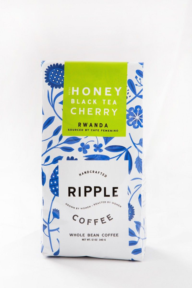 Ripple Coffee Roasters Whole Bean Package Design And Brand Ideny For Women Farmers Bags