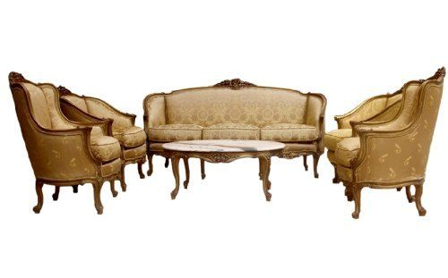 hand carved french provincial style living room set