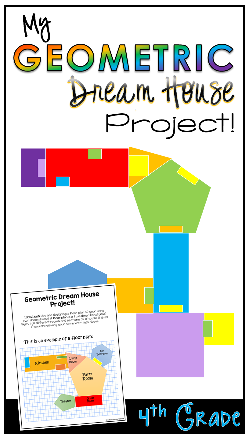 Geometry Project Dream House 4th Grade | Elementary teaching, Math on house physics project, house design project, house science project, house food project, house art project,