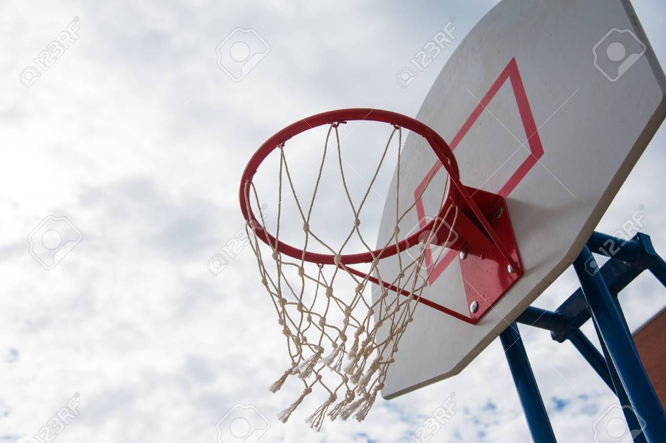 Basketball Board Over The Sky Outdoor Basketball Court Stock Photo Sponsored Sky Outdoor Basketball Boa Outdoor Basketball Court Flyer Design Photo