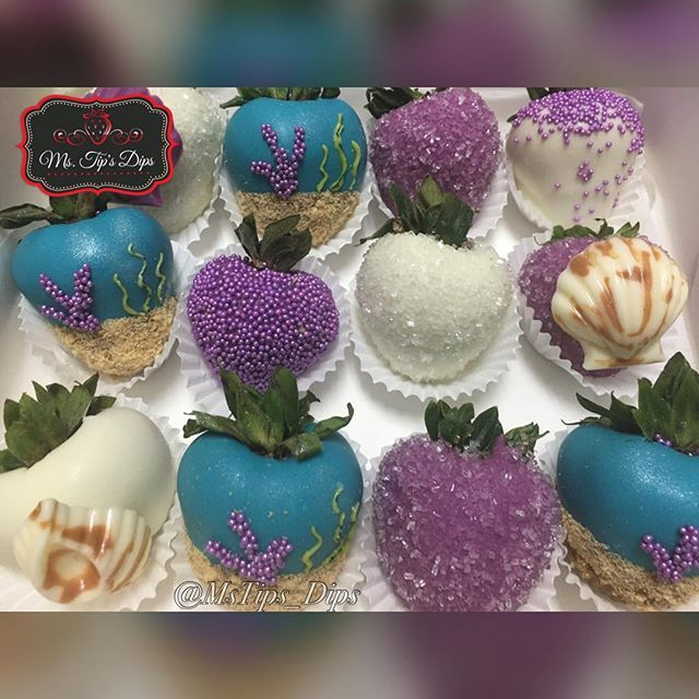 Under The Sea Themed Chocolate Covered Strawberries