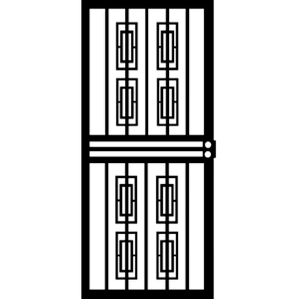Grisham 32 in x 80 in 412 series black silver security door grisham 32 in x 80 in 412 series black silver security door powder falaconquin