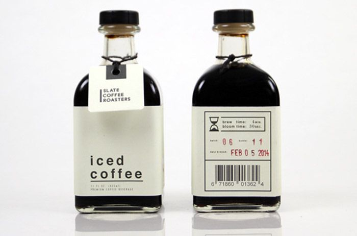 Slate Coffee Roasters Iced Coffee Beverages Package Inspiration Bottle Design Packaging Beverage Packaging Cold Brew Packaging