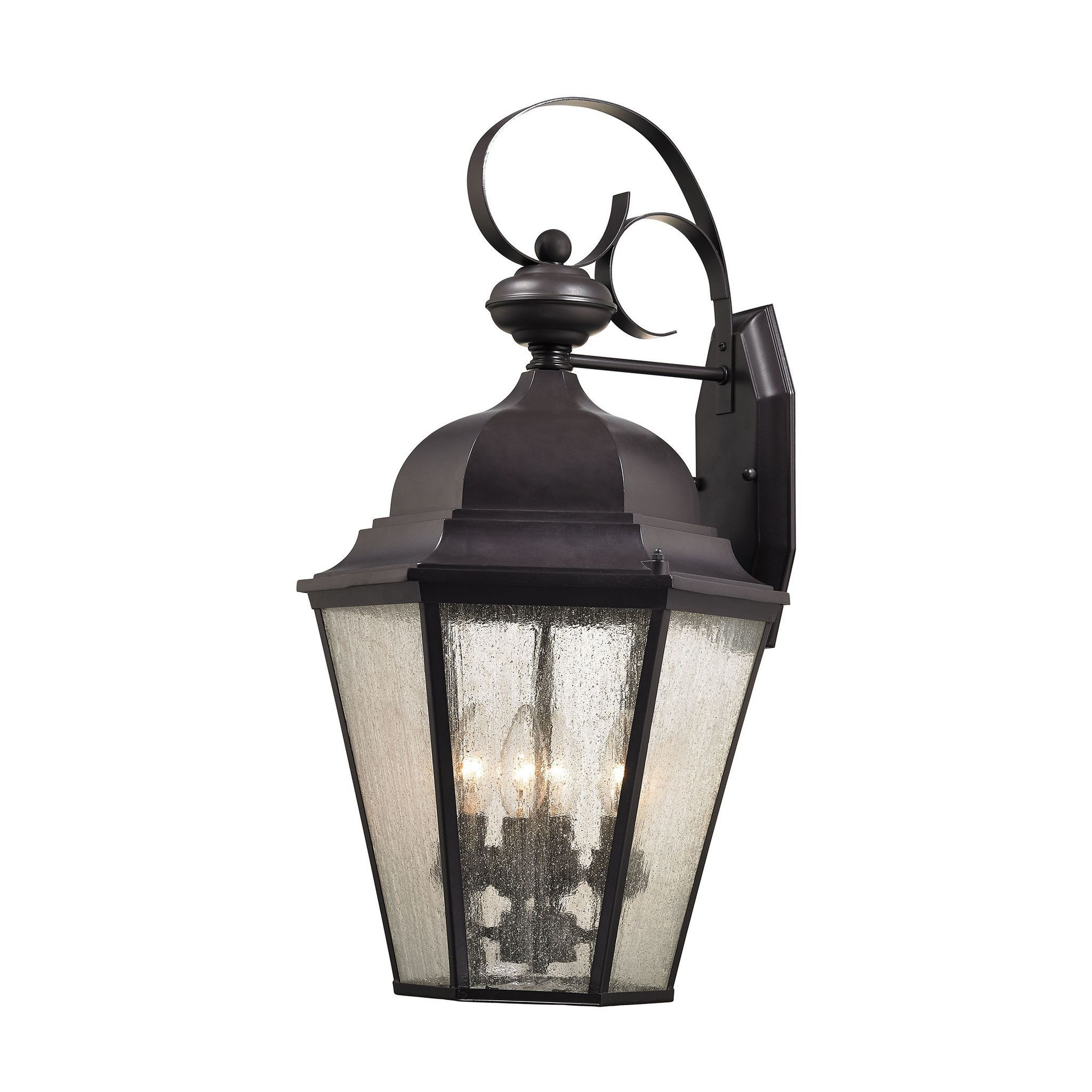 Cotswold 4 Light Outdoor Wall Sconce In Oil Rubbed Bronze
