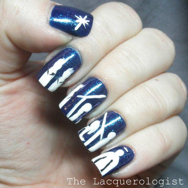 Holiday Nail Art: Christmas Nativity Scene. Click on nails for ...