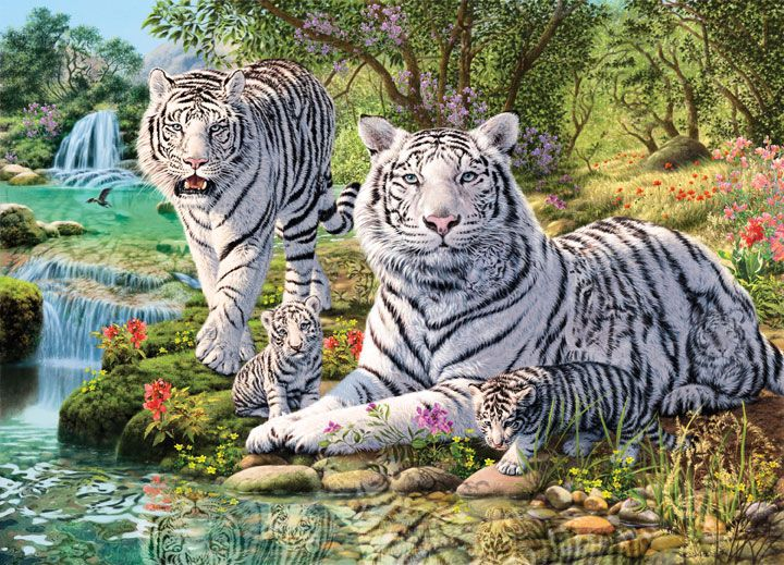 Hidden Images Jungle Royalty Puzzlewarehouse Com Cross Paintings Animal Paintings Animals