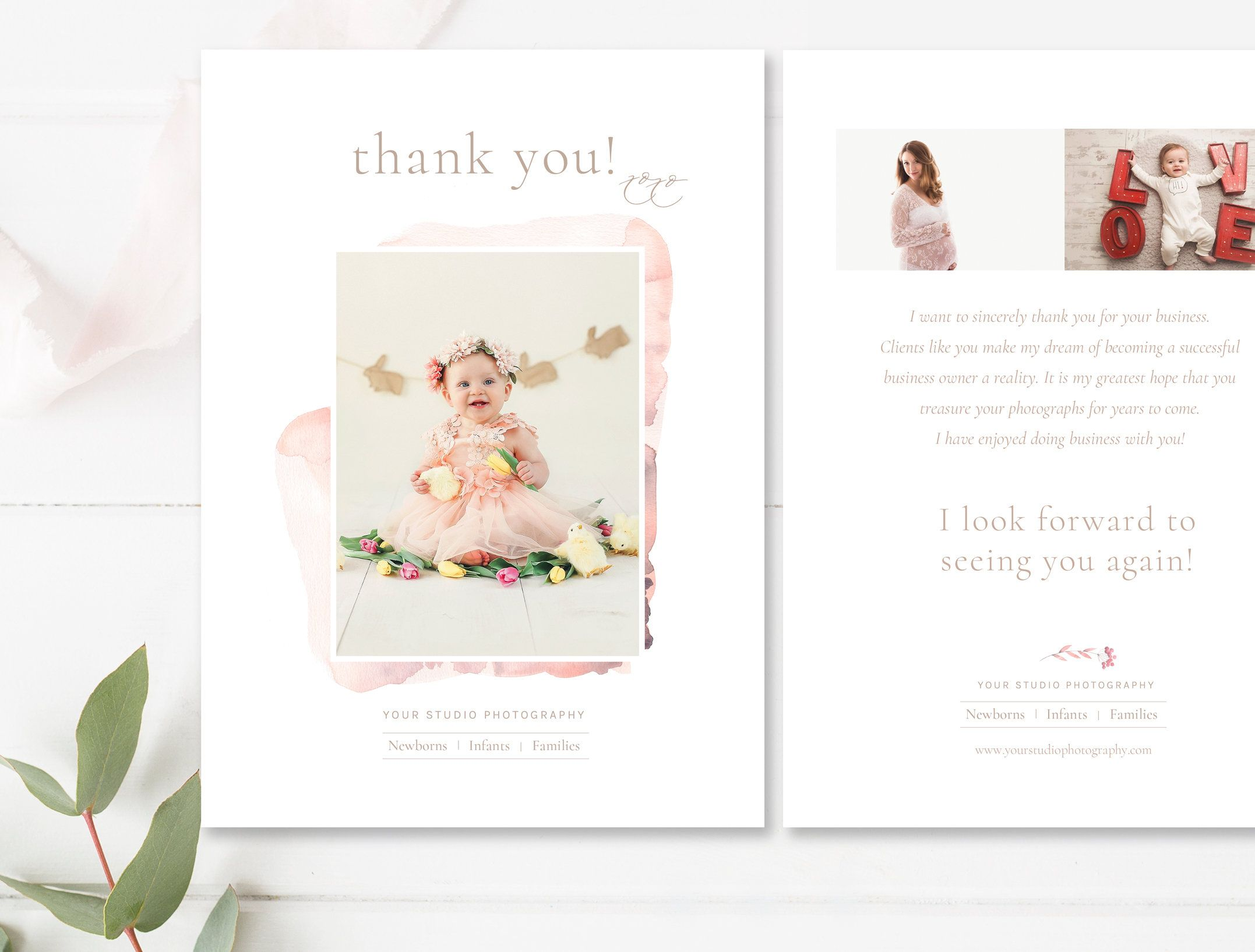 Photography thank you note