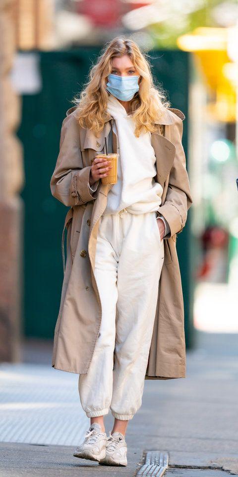Photo of Elsa Hosk White Sweatsuit
