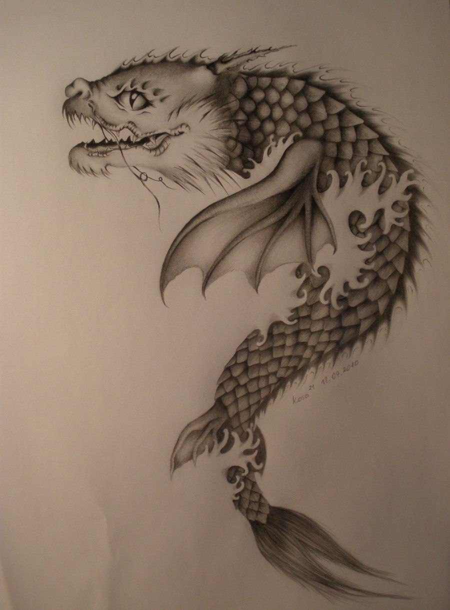 Fantasy koi dragon dragon fish koi by koso21 on for Black dragon koi