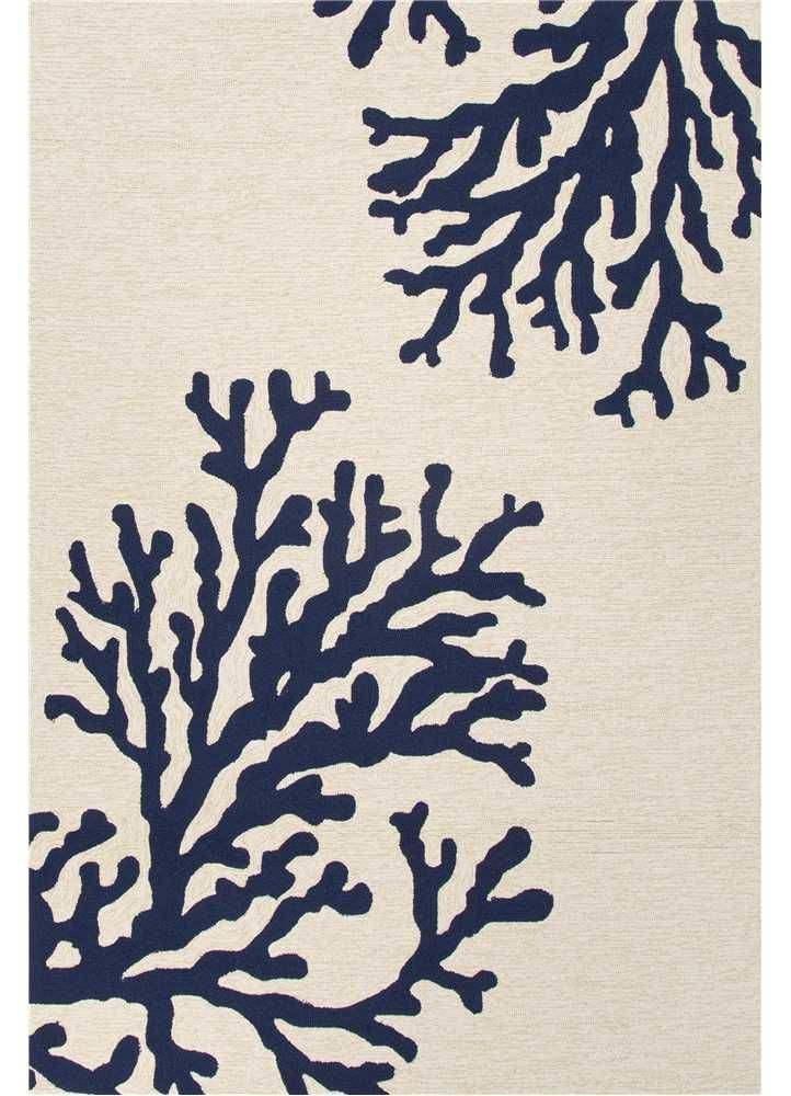 Grant Design Indoor Outdoor Rug Bough Out White Beach Decor Coastal Nautical Tropical Luxury Cottage House