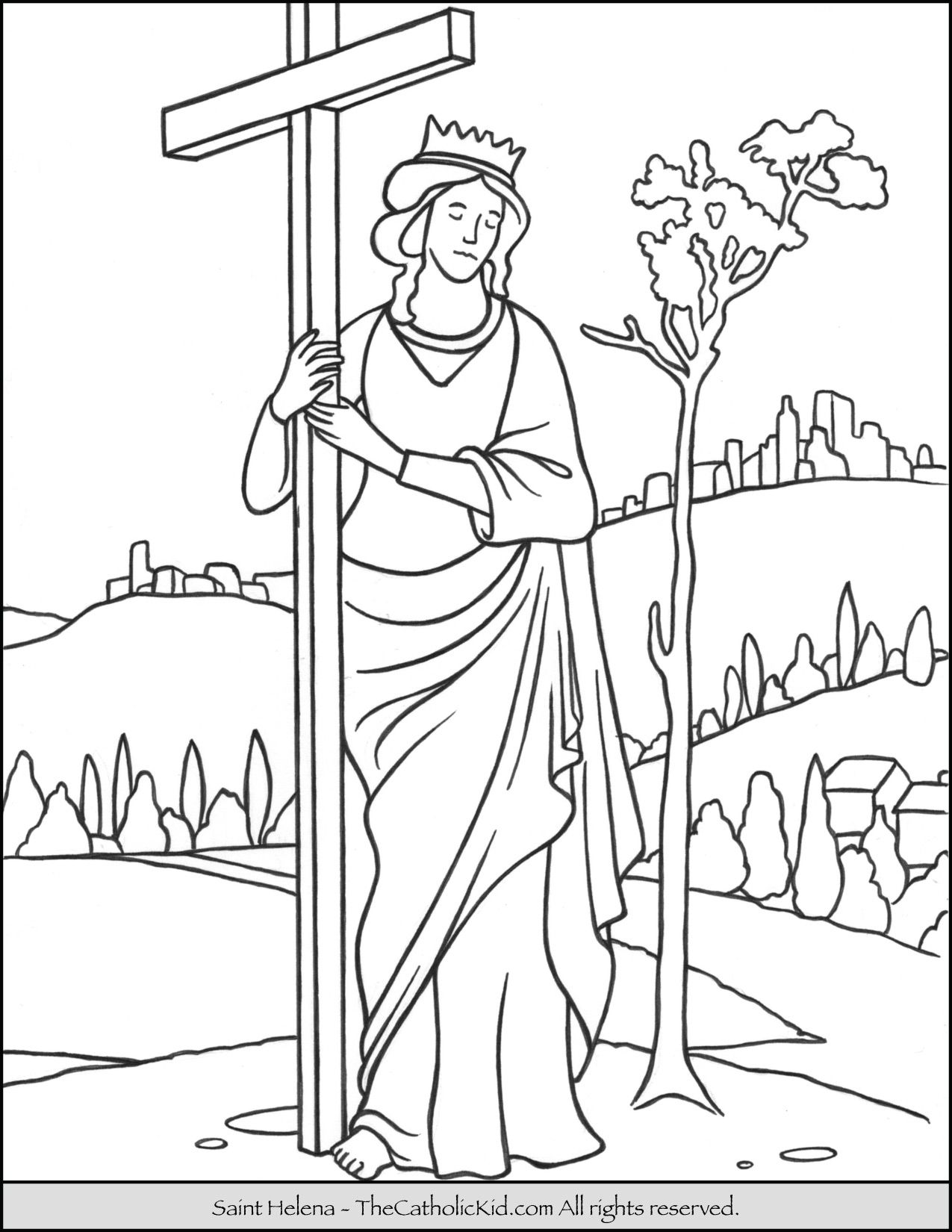 Saint Helena Coloring Page Empress mother of Constantine the Great ...