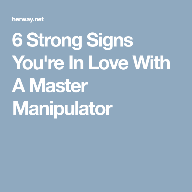 signs of a master manipulator