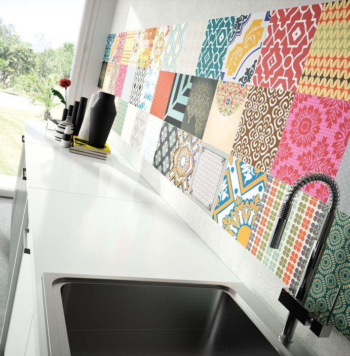 Decor Colorful is being very well received at Feria Cevisama Looking to old #hydraulic #tiles with a really fresh touch.