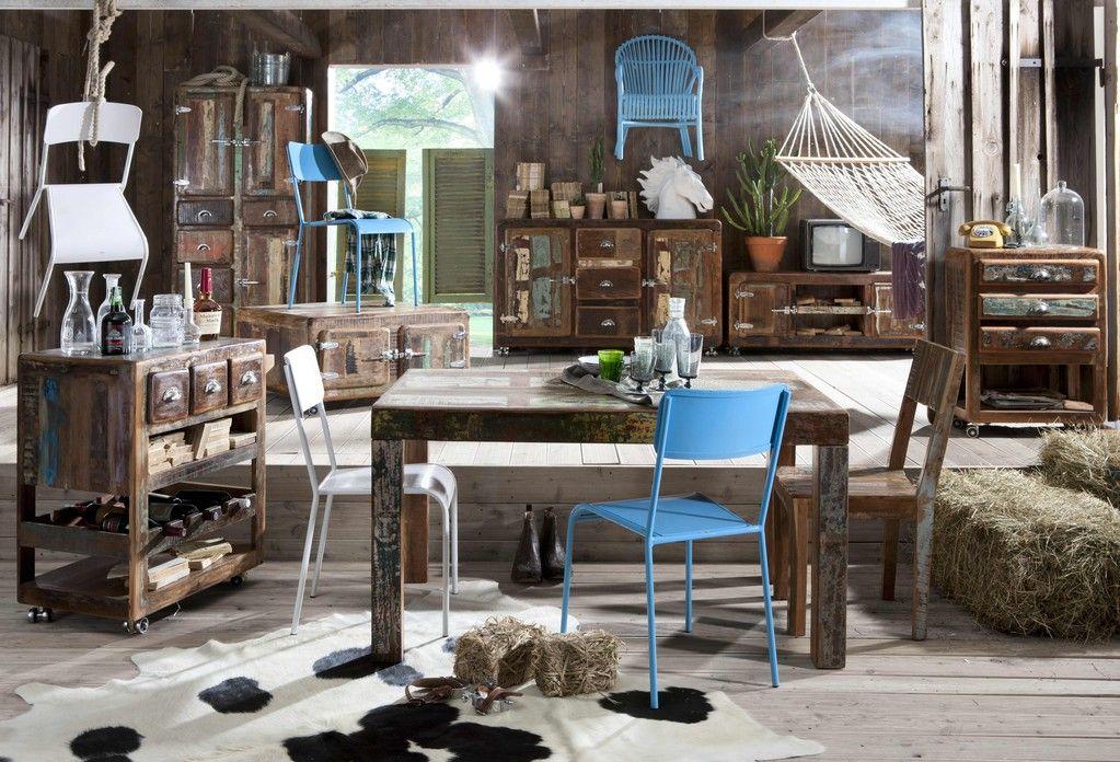 Sit-Möbel, Küchen-Servier-Wagen, Altholz bunt, Fridge, 02687-98 ...