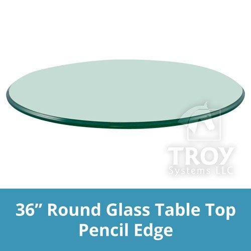 Glass Table Top 36 Quot Round 3 8 Quot Thick Pencil Edge