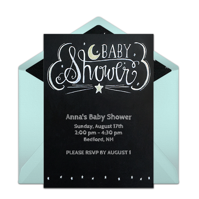 Free chalkboard baby shower invitations baby shower pinterest customizable free chalkboard baby shower online invitations easy to personalize and send for a baby shower punchbowl filmwisefo