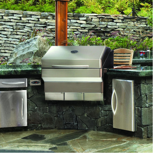 70 Awesomely Clever Ideas For Outdoor Kitchen Designs: Memphis Elite Built-In WiFi Enabled Pellet Grills Easily