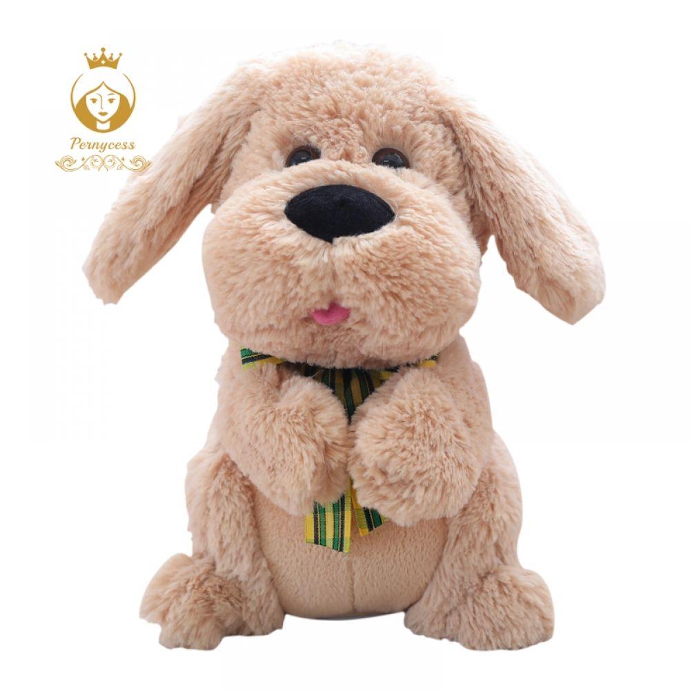 1pcs 28cm Electrical Peek A Boo Dog Plush Stuffed Animals Singing