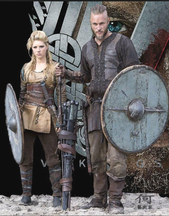 Manluyunxiao Ragnar Lothbrok Cosplay botas altas vikingos