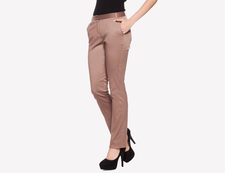 La City - pantalon de tailleur marron glacé