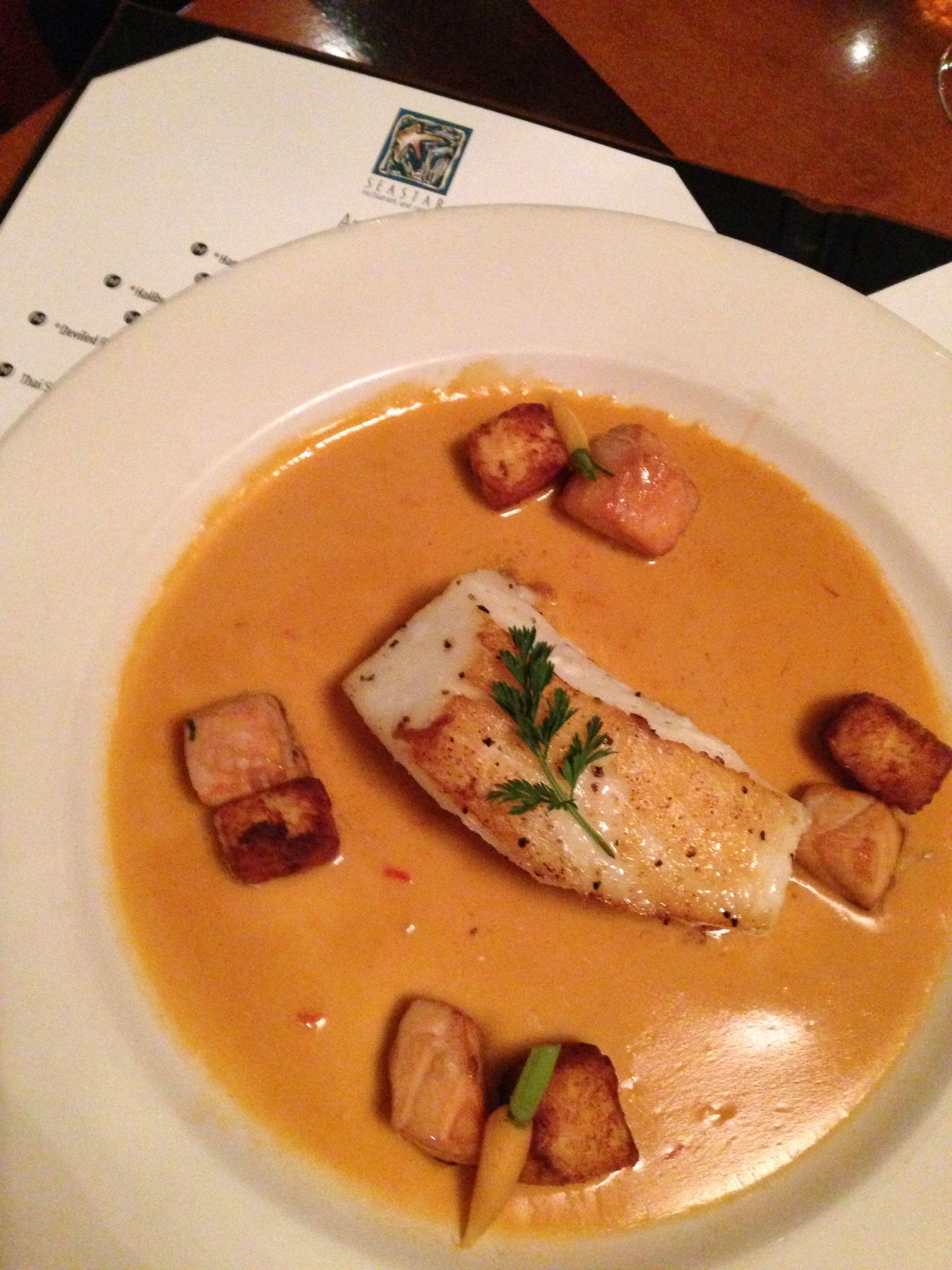 Chilean Sea B And Lobster Bisque At Star Restaurant Seattle Or Bellevue Gluten Free Menu